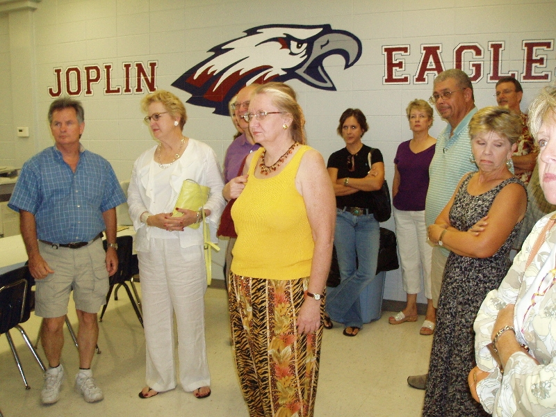 several of our class during the tour of the renovated Joplin High School